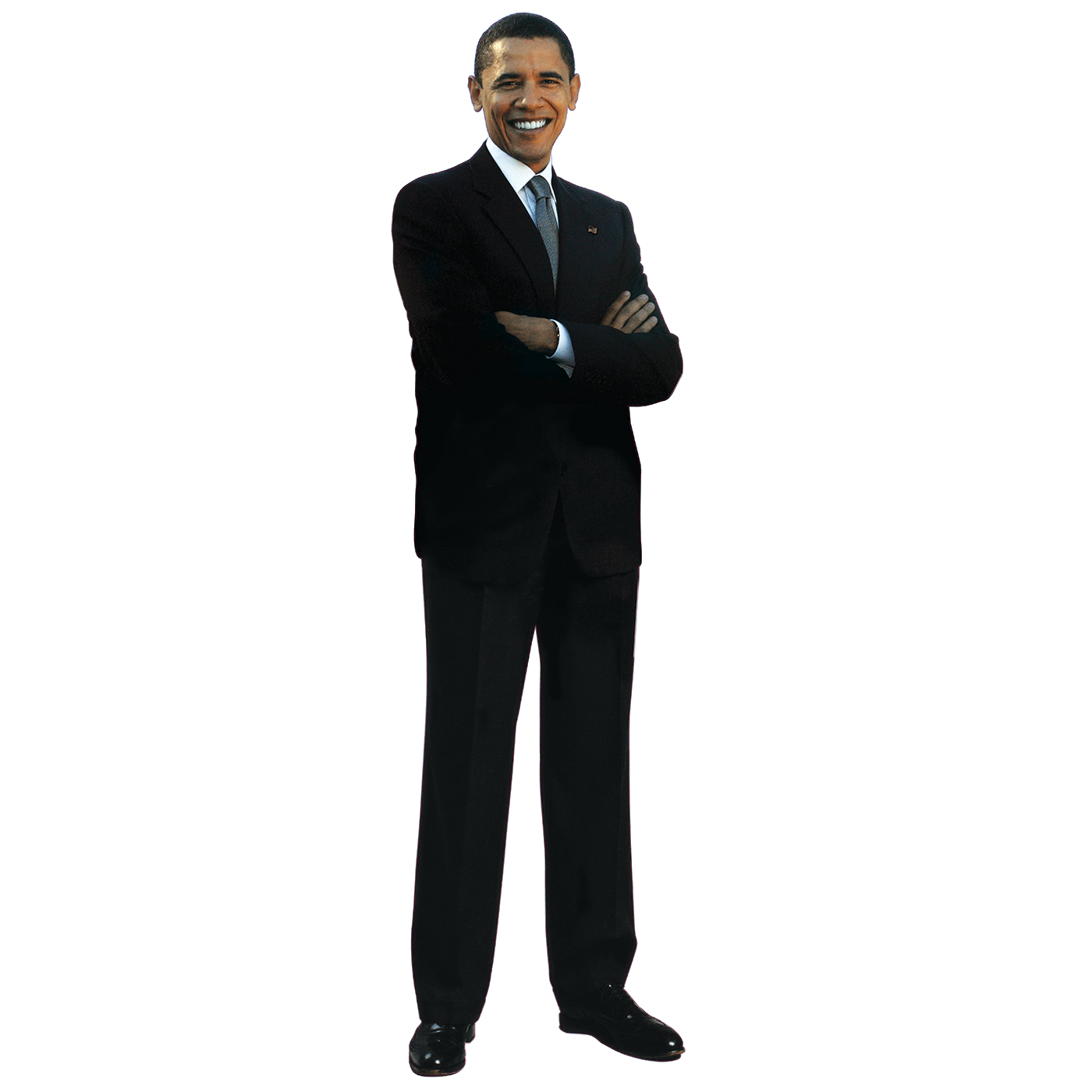 Man standing png. Obama transparent stickpng