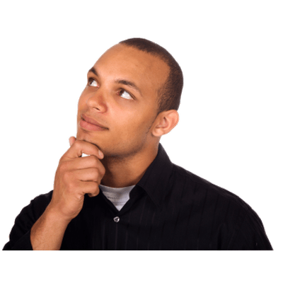 Man thinking png. Looking up transparent stickpng