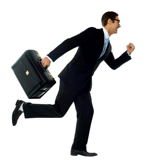 Briefcase transparent man. Businessman with png free