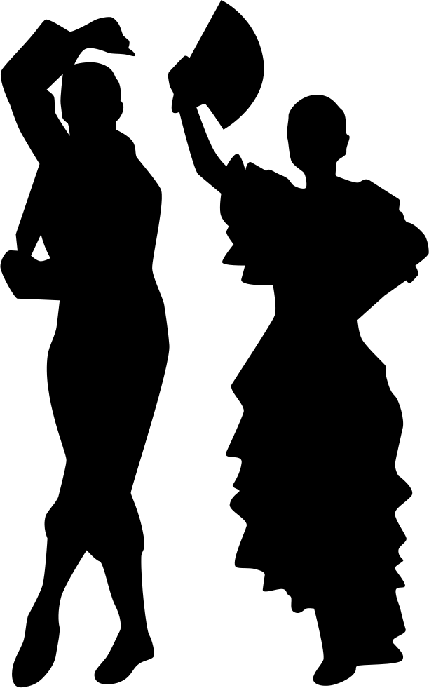 Sad person silhouette png. Man and woman flamenco