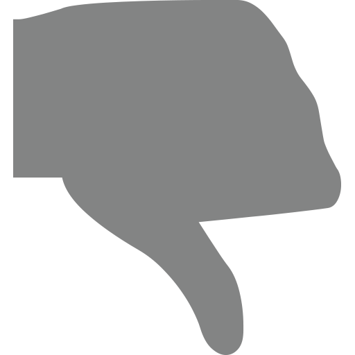 Manatee clipart emoji. Thumbs down sign for