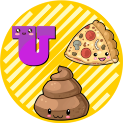 Manatee clipart emoji. Effing stickers tagged pizza