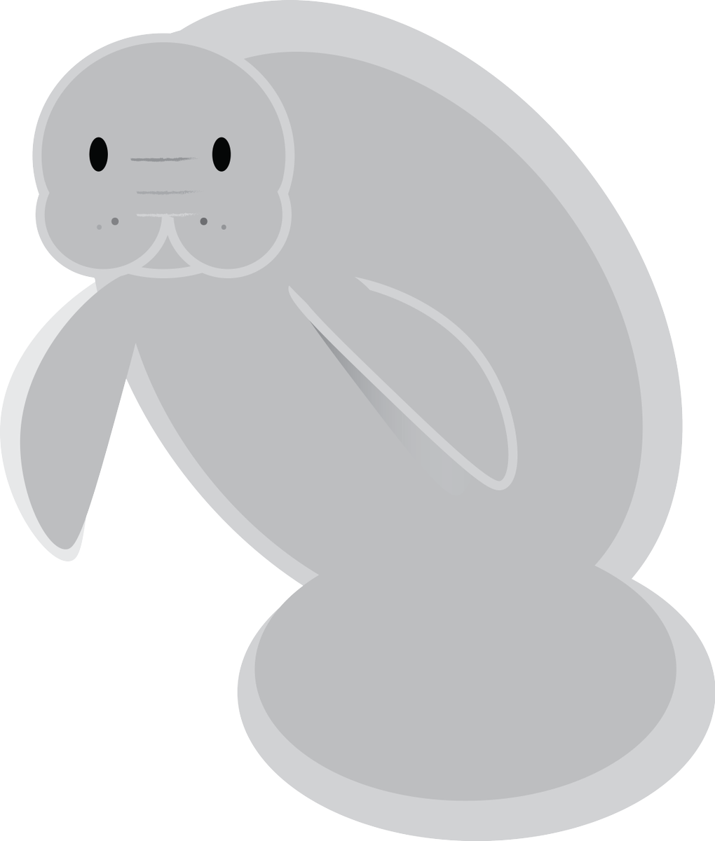 Myfwc on twitter help. Manatee clipart emoji picture library download