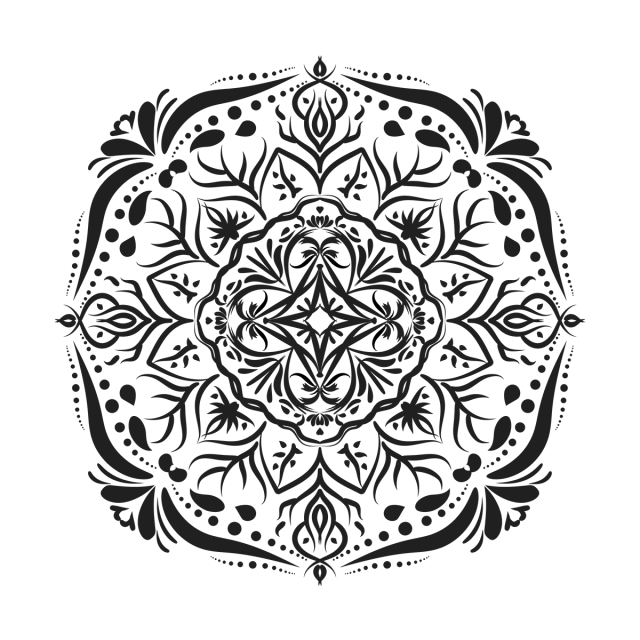 Mandala background png. Pattern illustration and vector