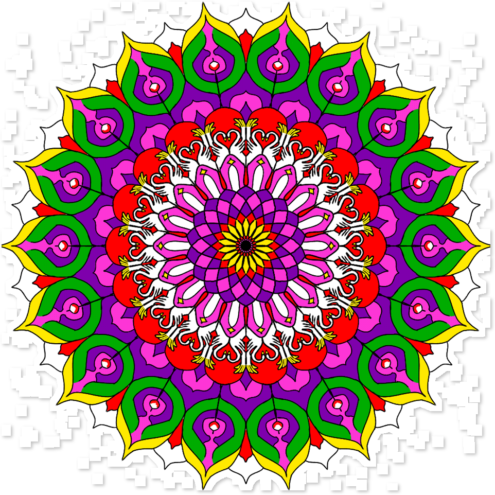mandala colorida png