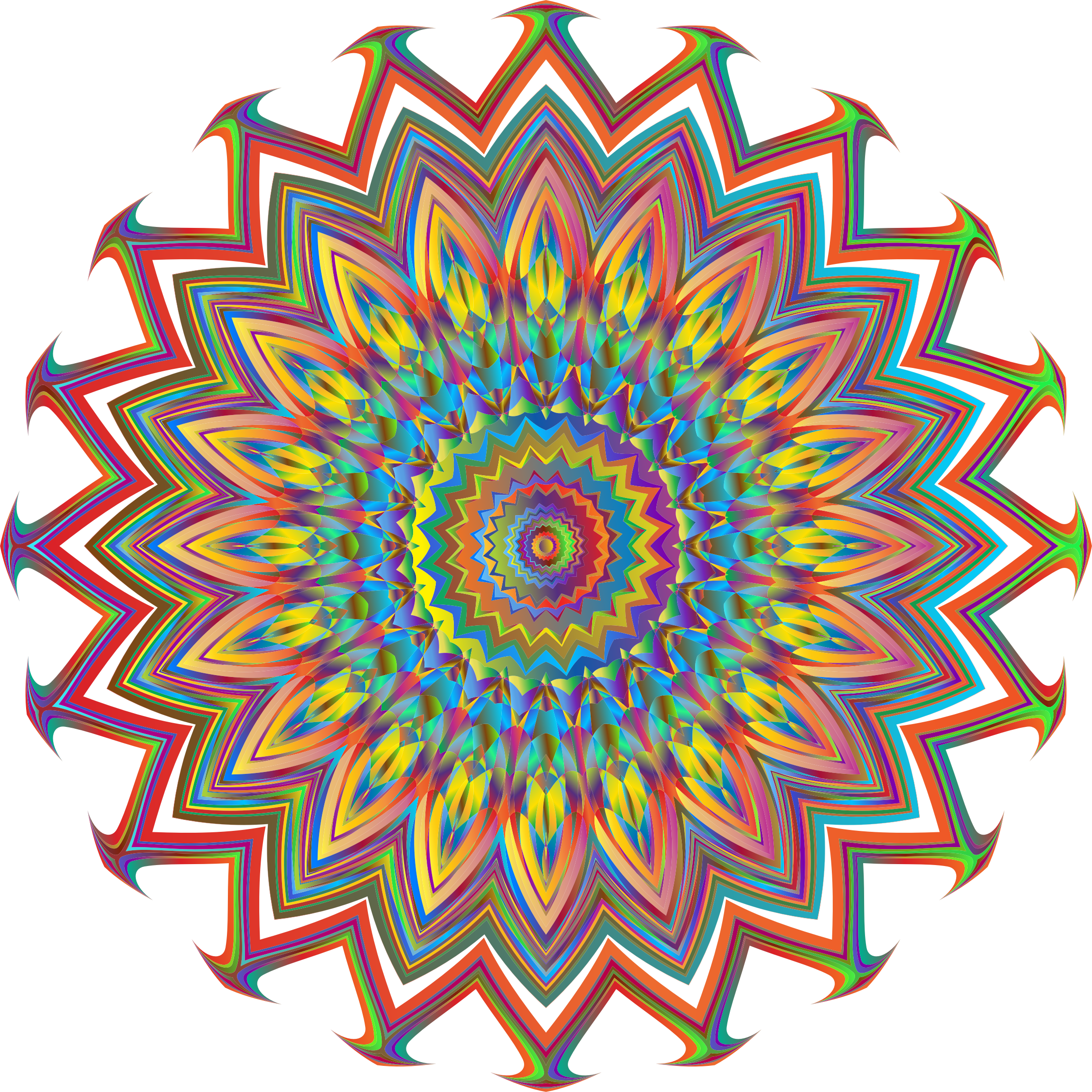 Mandala simple vector png. Rose icons free and