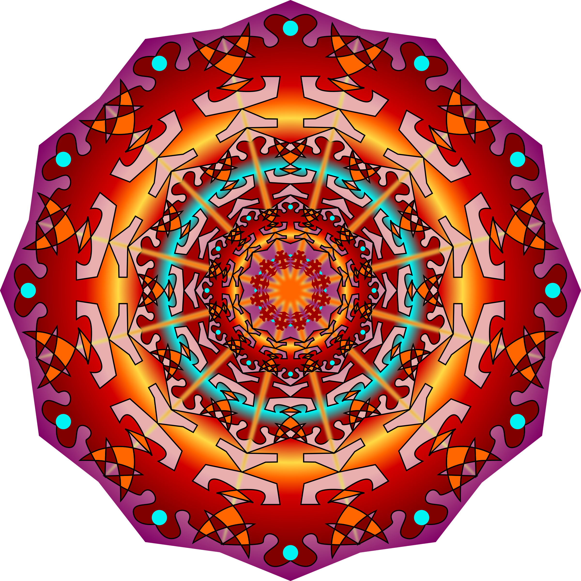 Mandala simple vector png. Fire icons free and