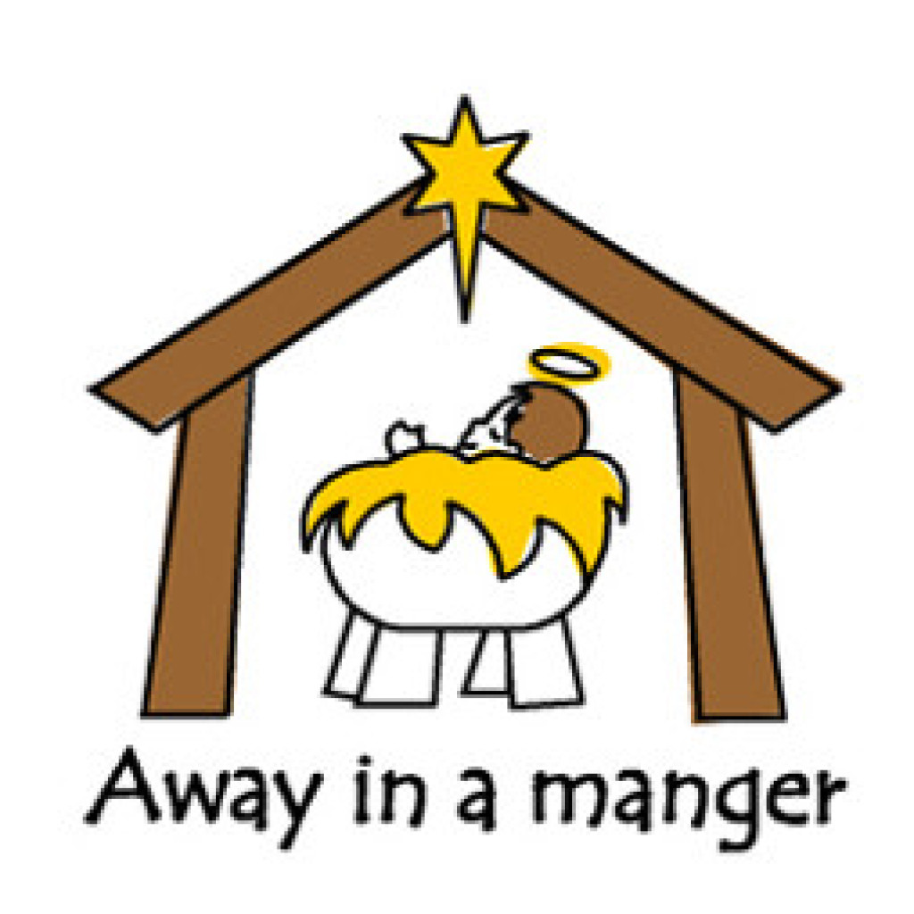 Nativity clipart away in manger. Jesus a at getdrawings