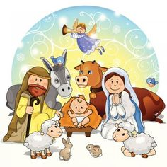 Nativity clipart away in manger. Clip art christmas jesus