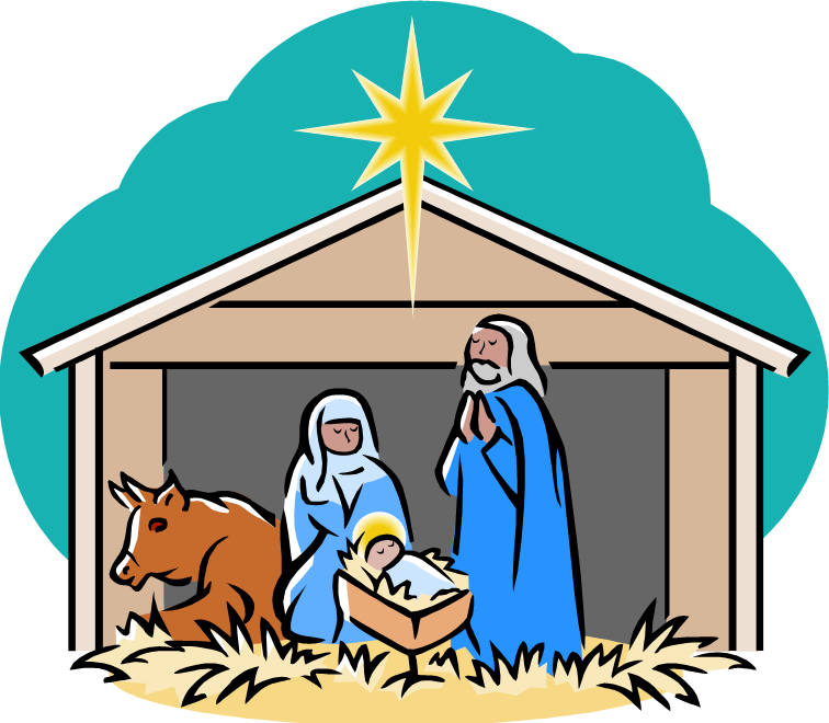 Nativity clipart december. Free manger images download