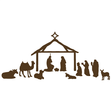 nativity silhouette png