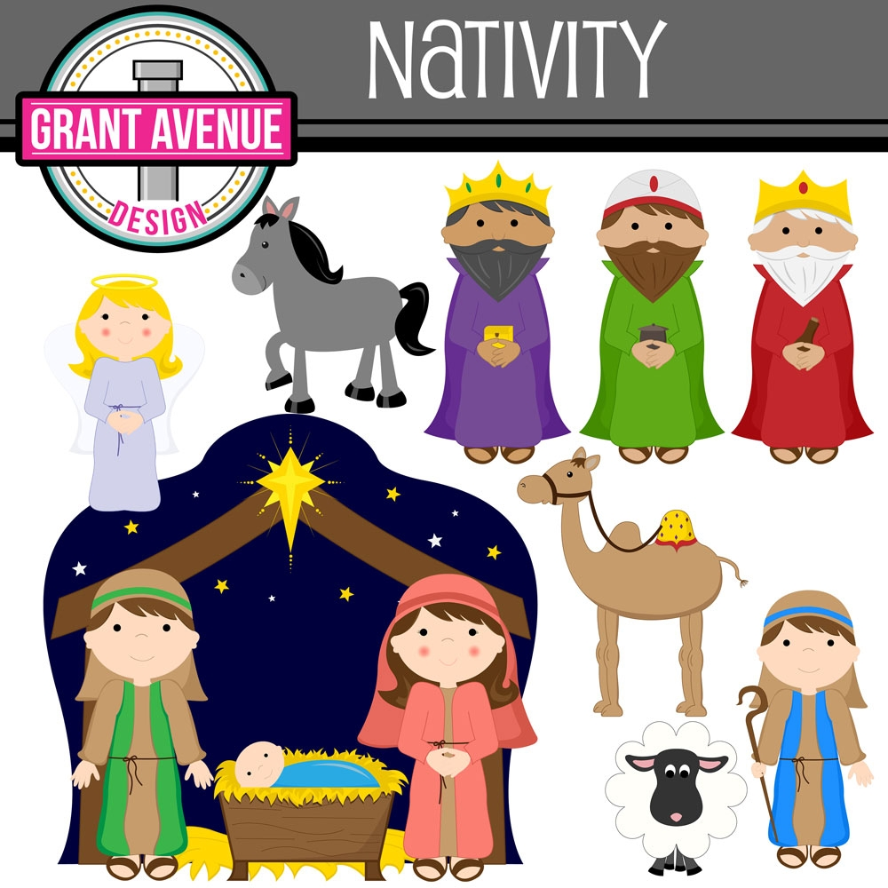 Nativity clipart. Free silhouette of typegoodies
