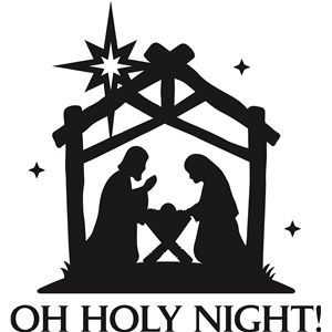 Manger clipart silent night. I think m in