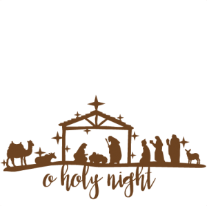 Manger clipart silent night. Oh holy nativity svg