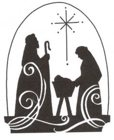 Manger clipart silent night. Simple nativity advent love
