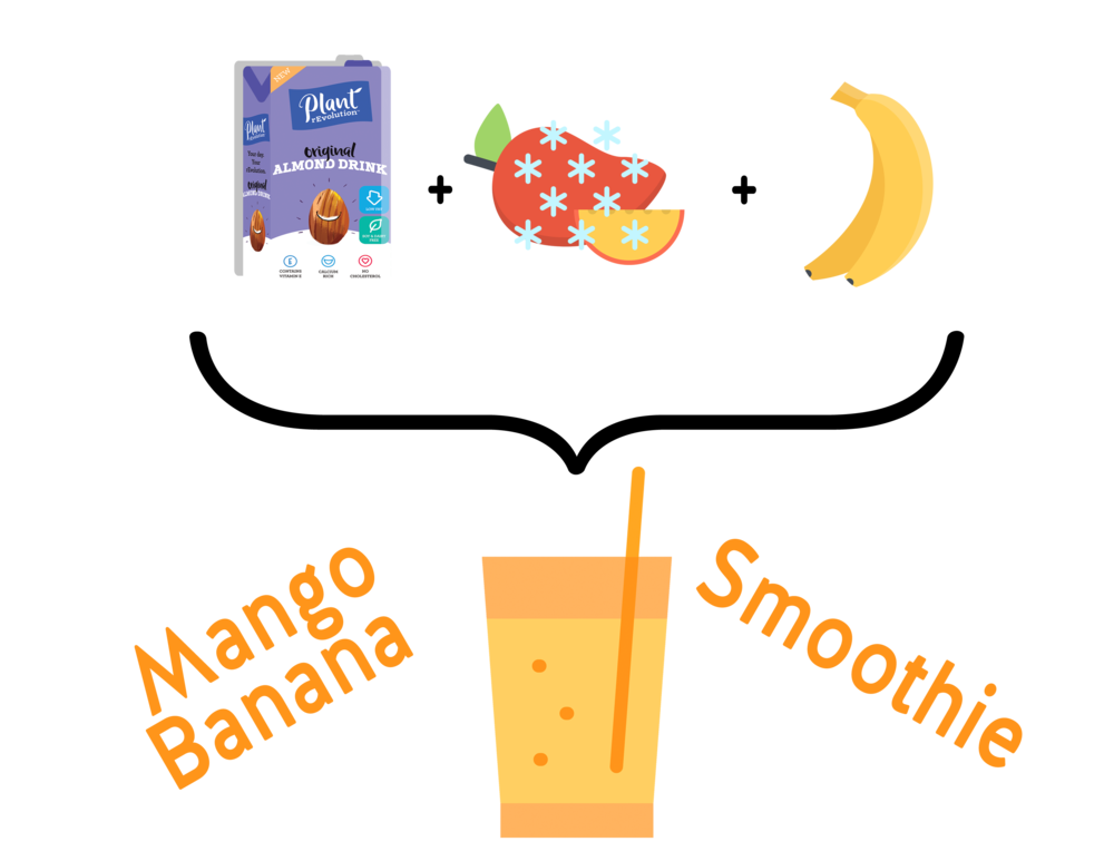 Mango clipart banana. Smoothie plant revolution