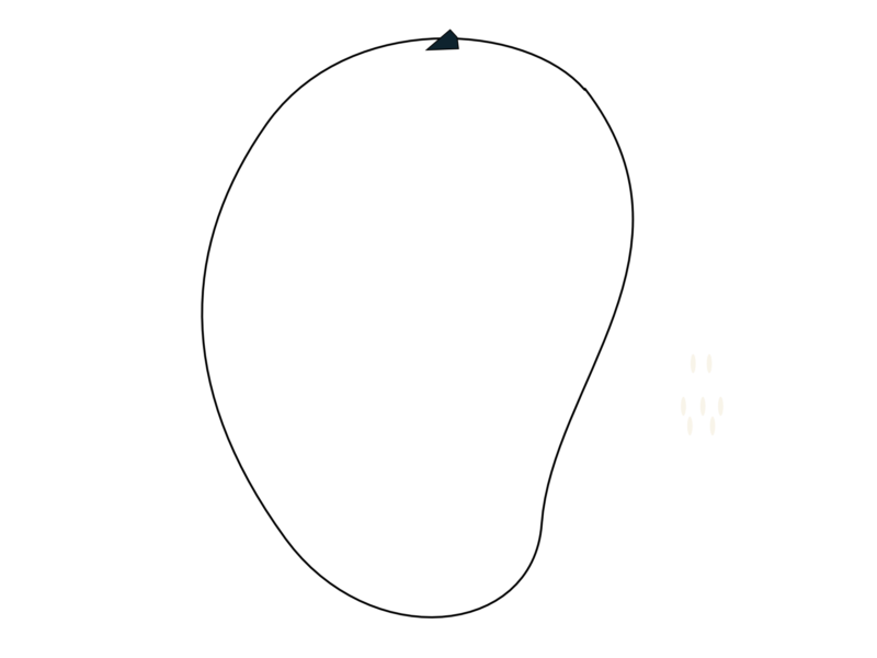 Mango clipart black and white. Png image