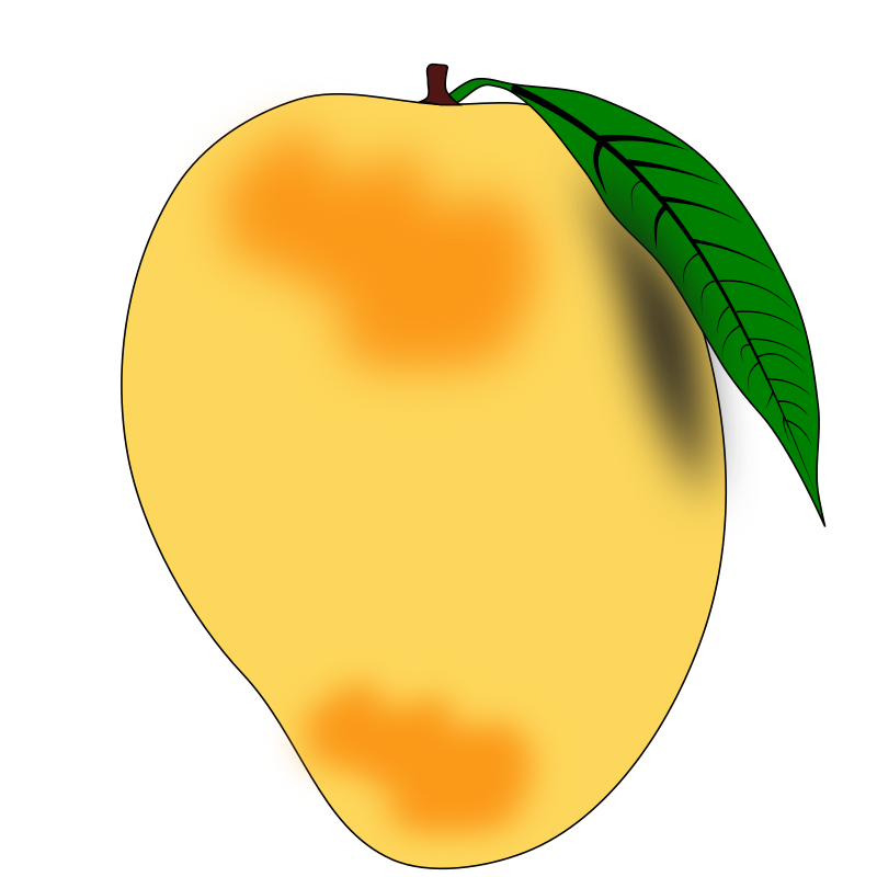 Mango clipart black and white png. Collection of free abought