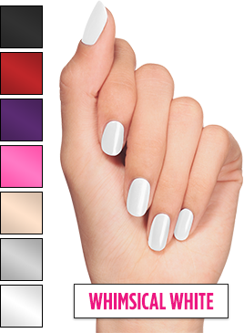 Manicure vector stylish. Spray perfect on nail