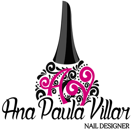 Manicure vector stylish. Logotipo do site ana