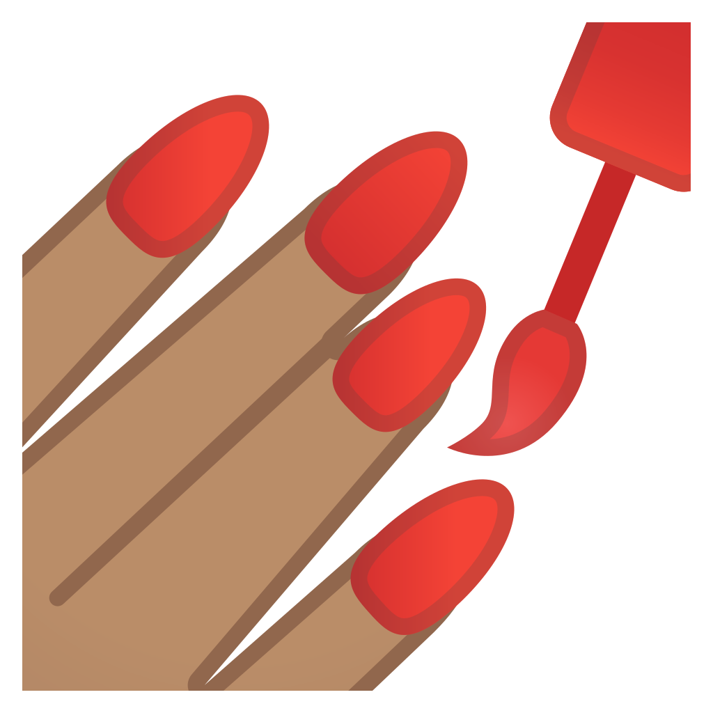 Manicure vector stylish. Nail art icon choice