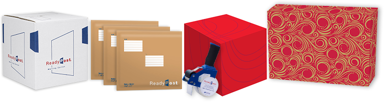 Envelope transparent packaging. Shipping post office supplies