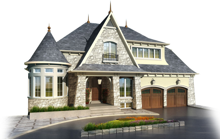 Mansion at night png. House from the outside