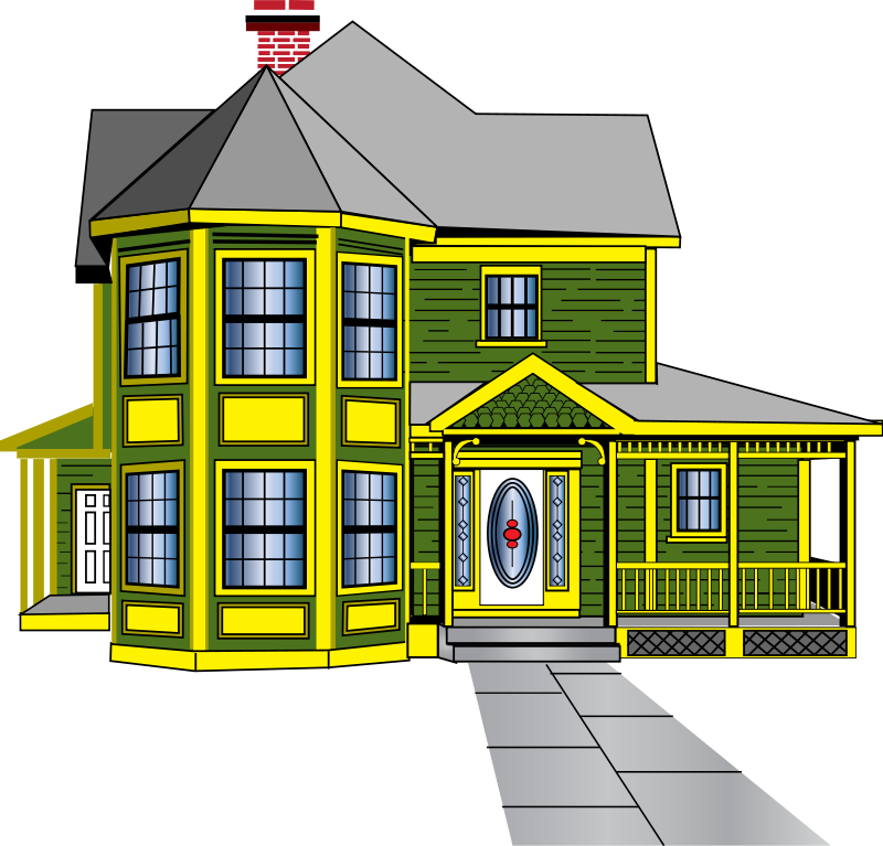 Free house images download. Cottage clipart townhouse vector black and white library