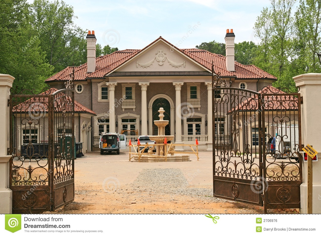 Mansion clipart brown house. Under construction panda free