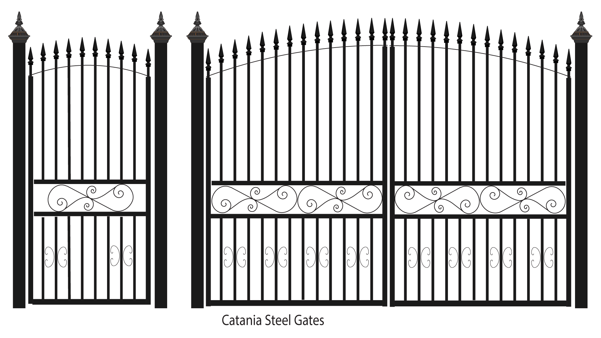 Mansion gate png. Catania steel gates for