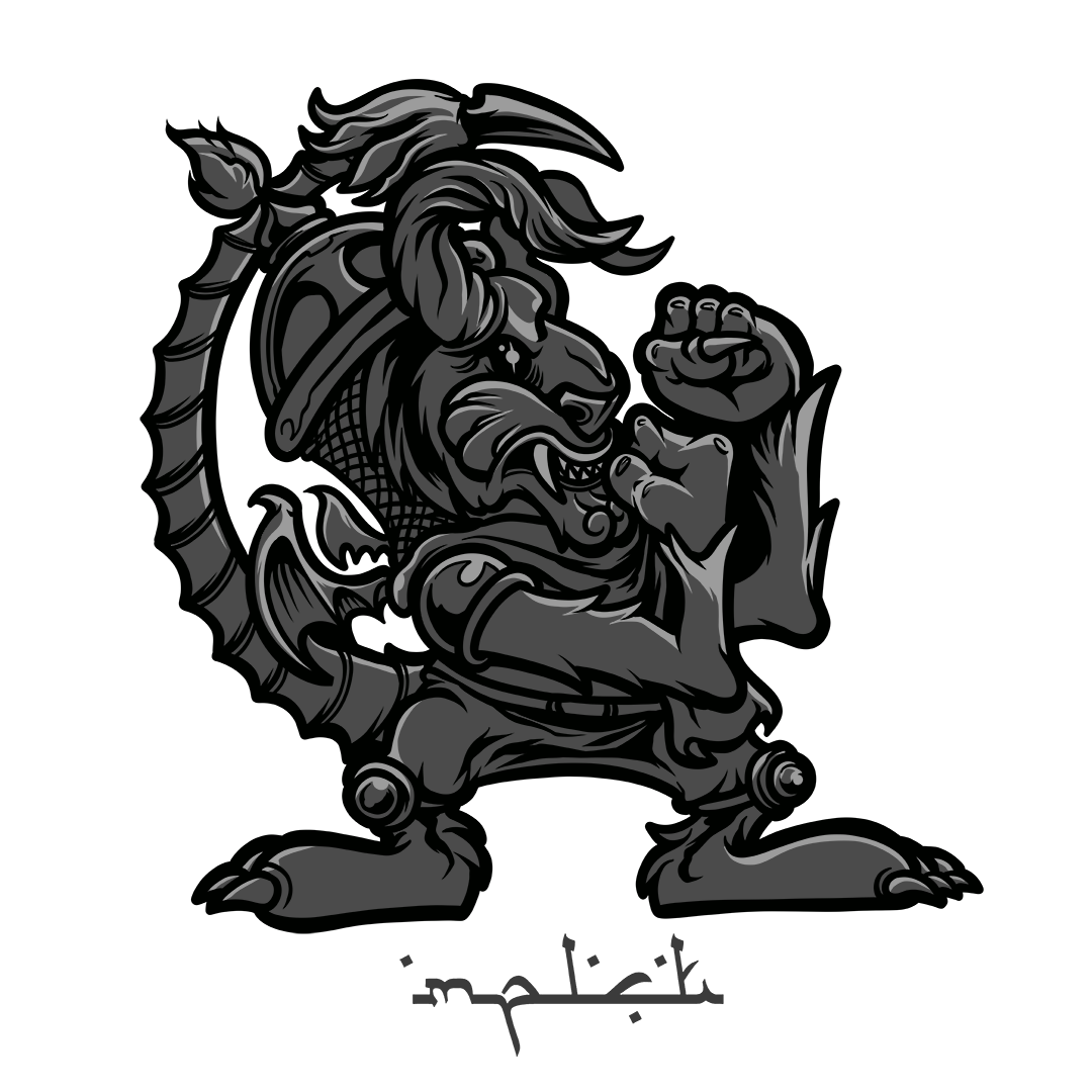 Manticore drawing. Fighting on behance