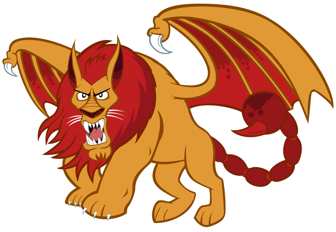 Manticore drawing. The by j brony