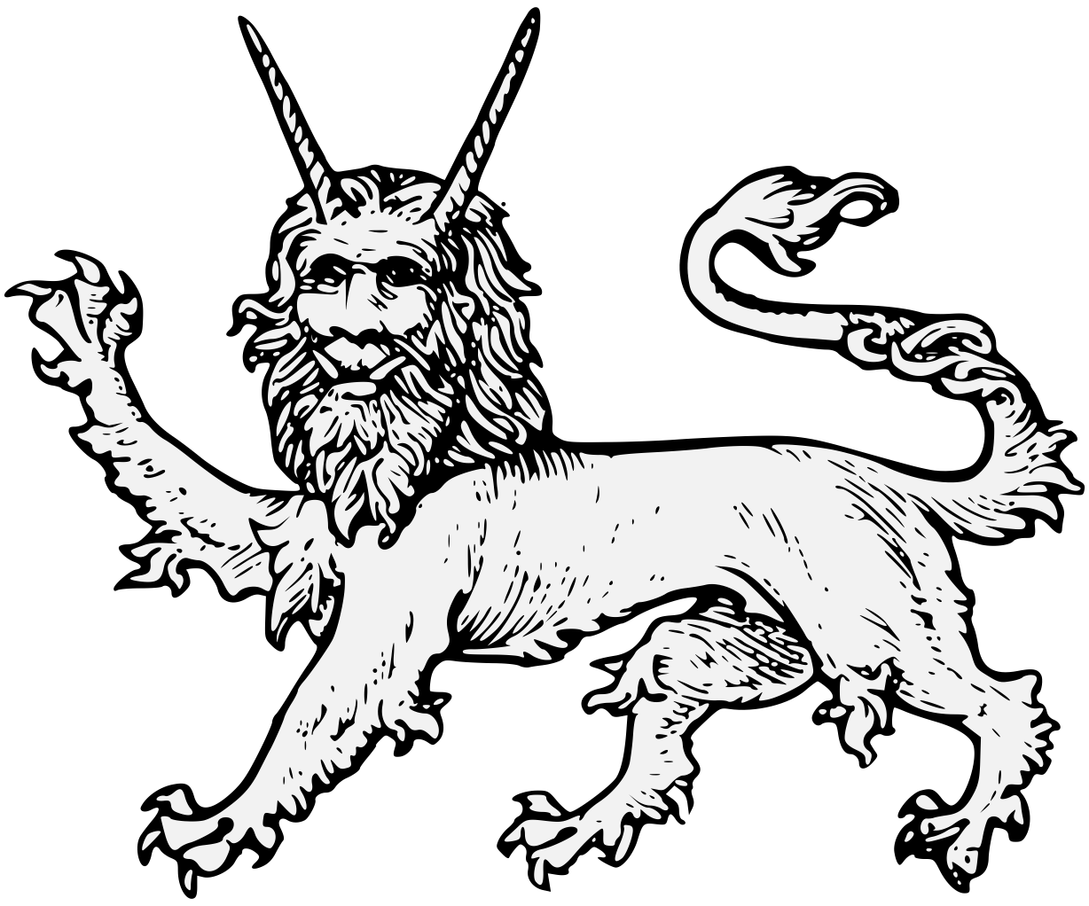 Traceable heraldic art pdf. Manticore drawing banner freeuse download