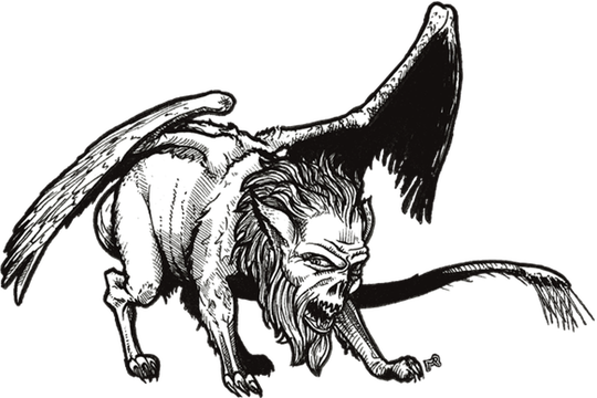Manticore drawing vector royalty free download