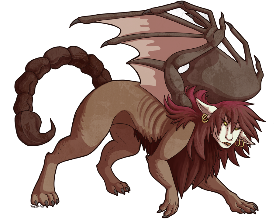 weasyl. Manticore drawing image freeuse library
