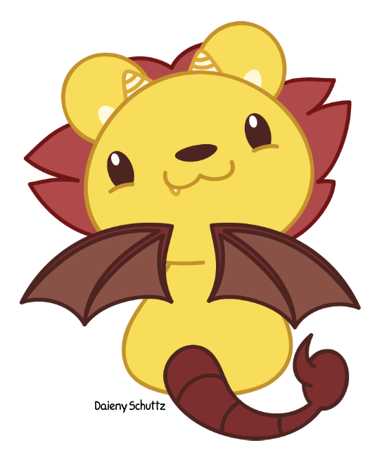 Manticore drawing simple. Chibi by daieny deviantart
