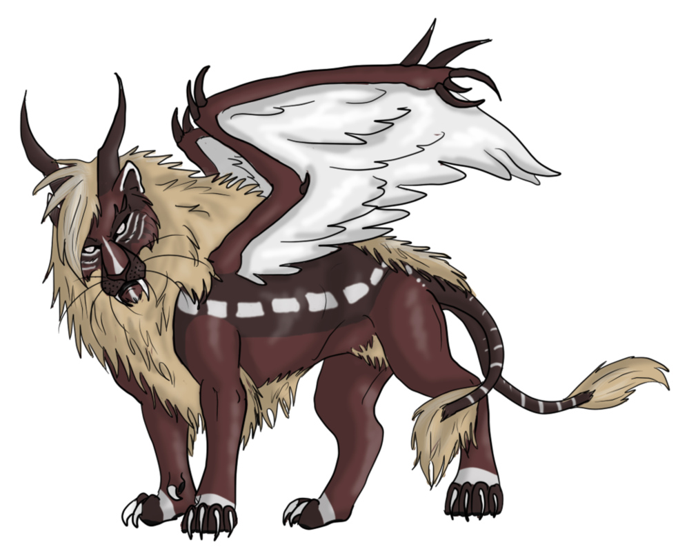 Manticore drawing female. By lover of the