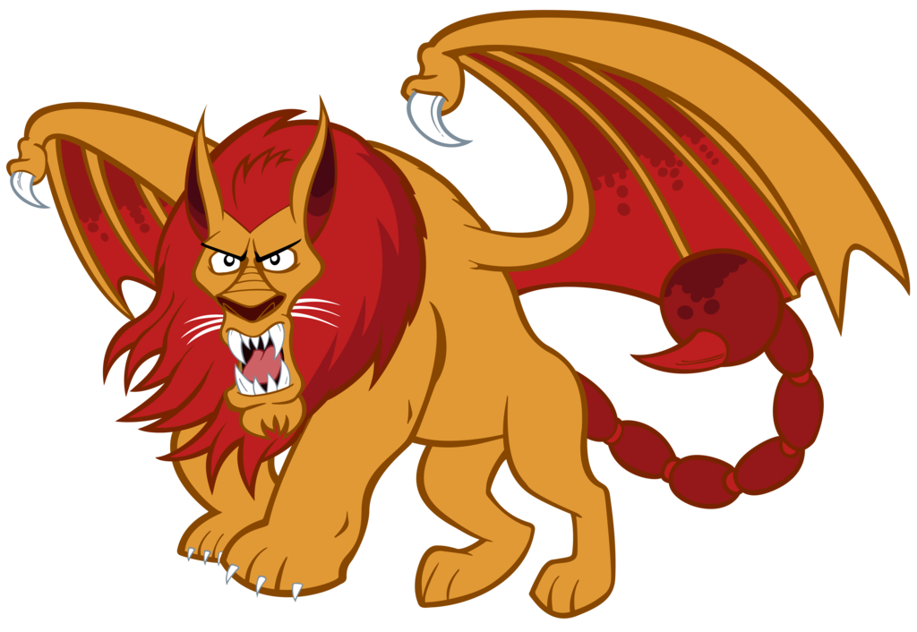 By tygerbug on deviantart. Manticore drawing beautiful royalty free stock