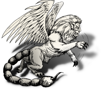Manticore drawing real life. Inkle blog android alert