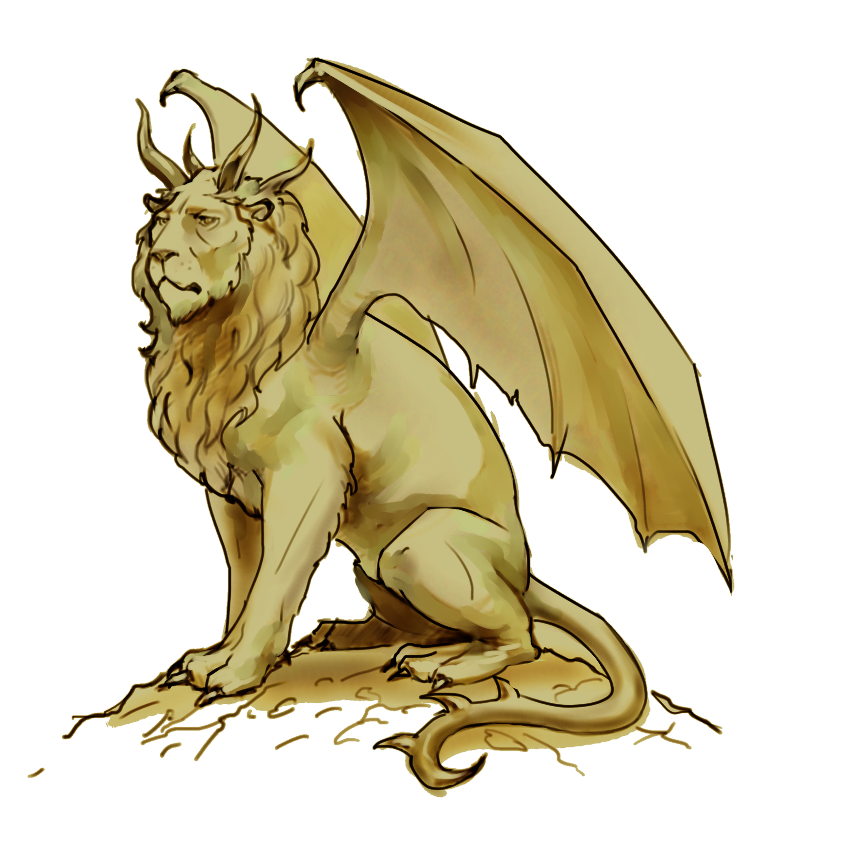 Shades of vengeance. Manticore drawing svg freeuse