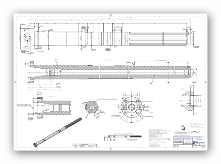 Manufacturing drawing. Spare parts west solutions
