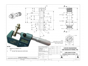 Manufacturing drawing eng. Engineering drawings carver and