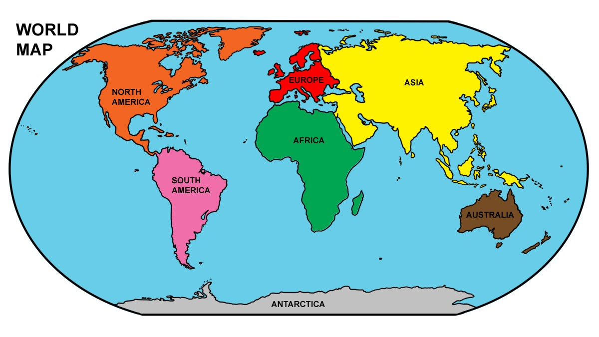 Map clipart. World africa continent new