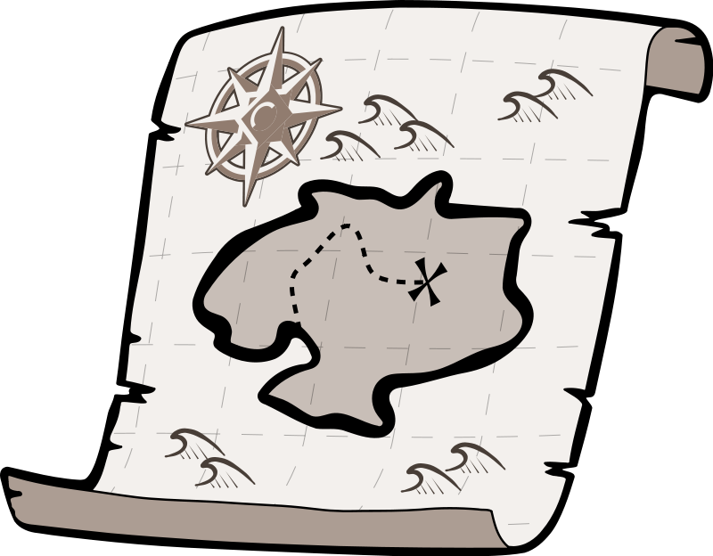 Map clipart catoon. Free