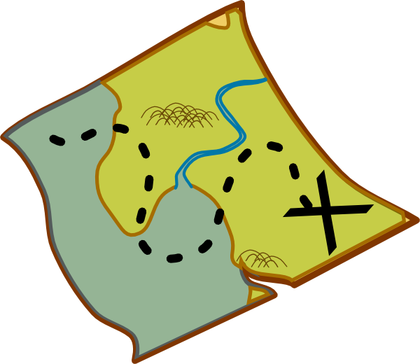 Map clipart catoon. Treasure clip art at