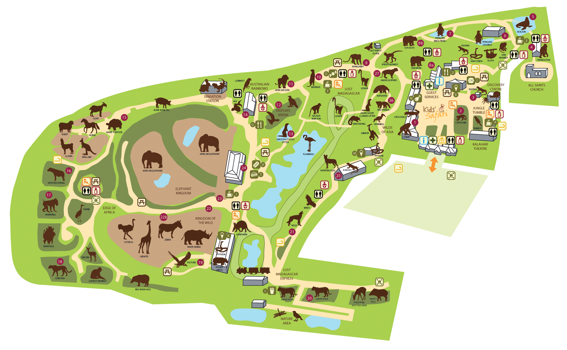 Maps vector zoo. Map colchester places to