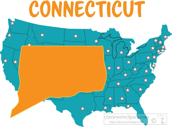 Map clipart classroom. Us connecticut united states
