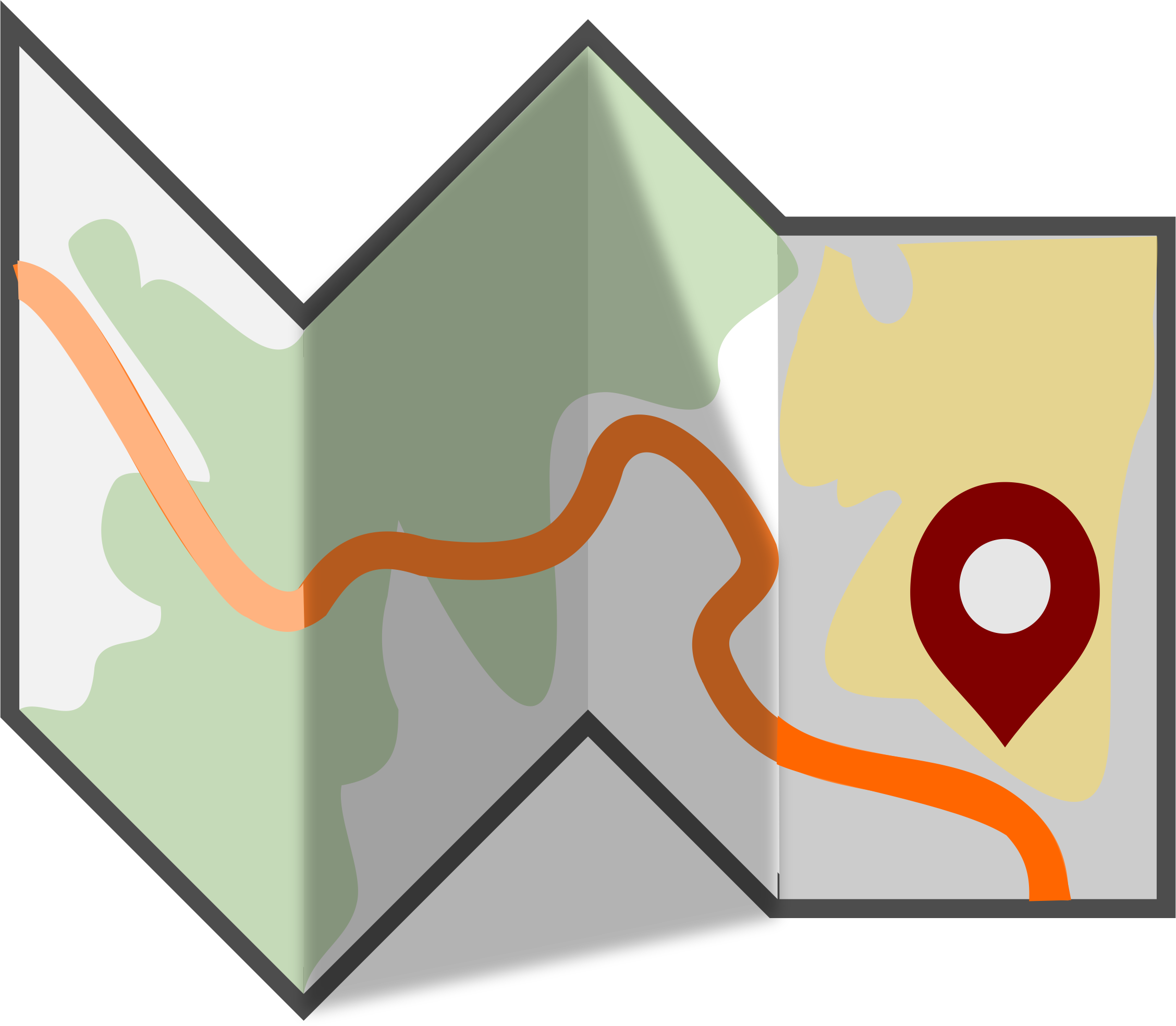 folded map png