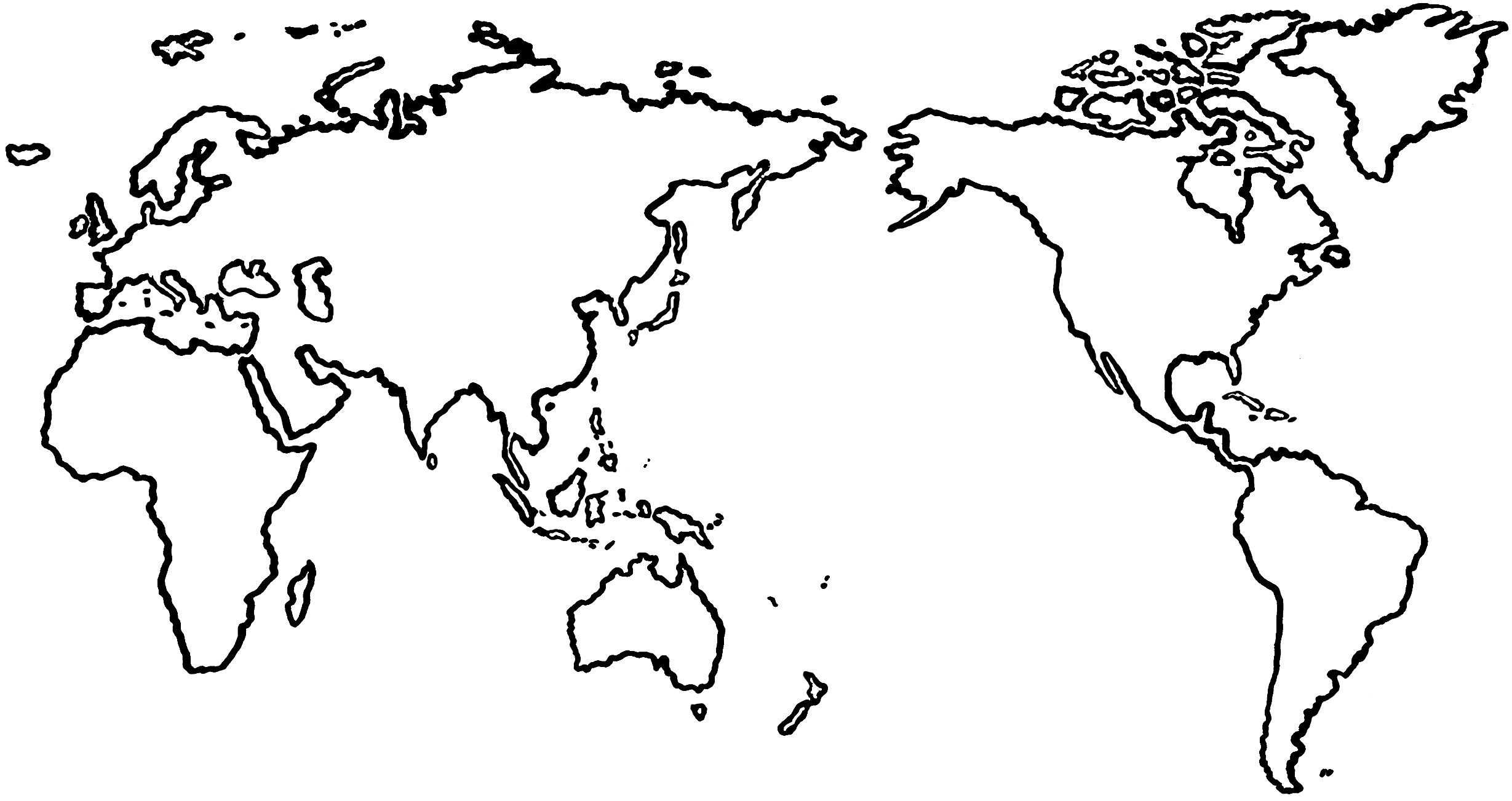 Map clipart simple. Us black and white