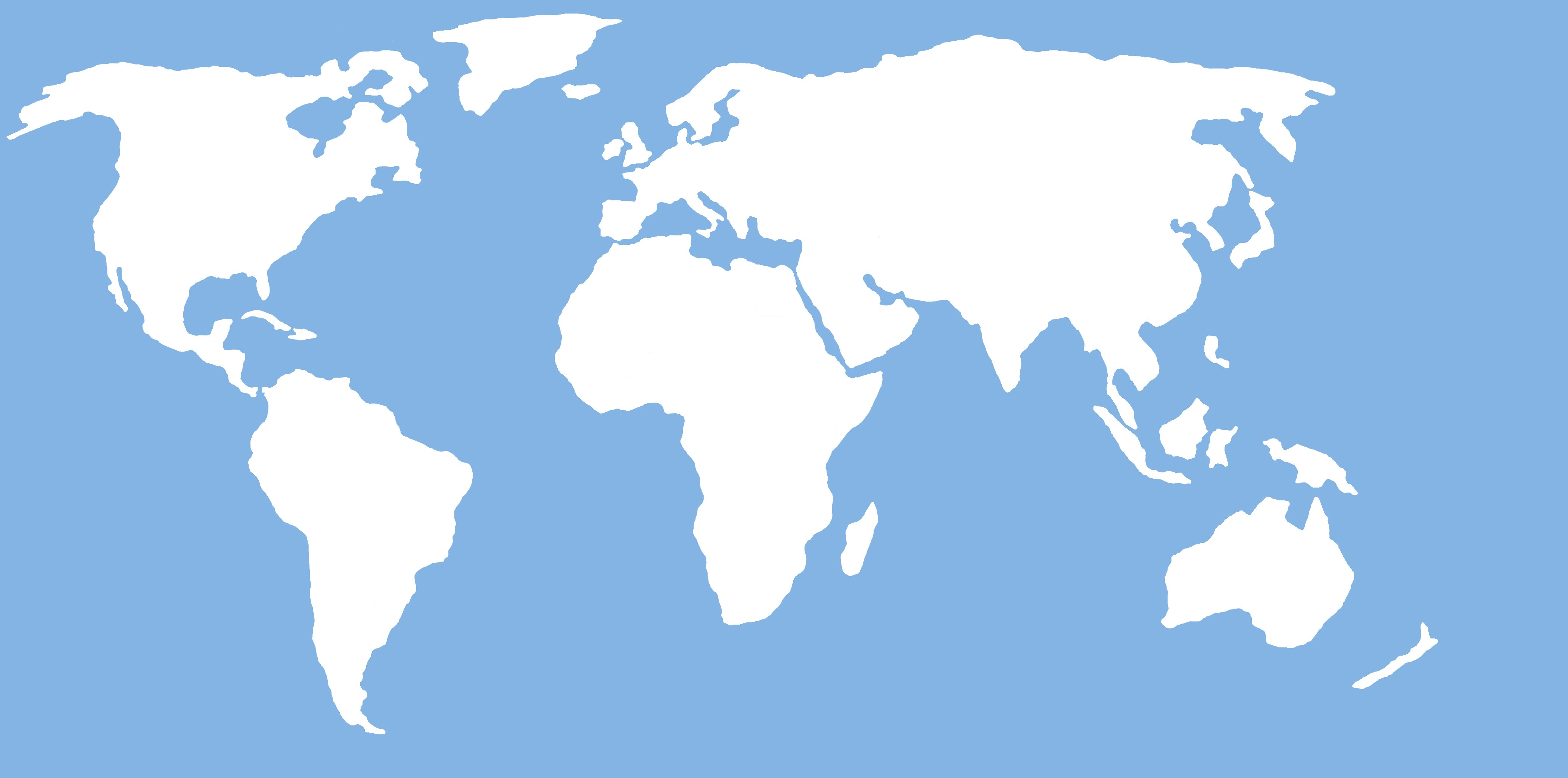 Map clipart simple. World outline easy to